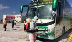 Chiclayo: mujer muere dentro de un bus interprovincial