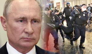 Rusia: protestas en Moscú contra reformas que permiten a Putin quedarse en el poder
