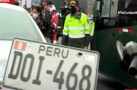 Policía retiró placas y retuvo licencias a vehículos informales en operativo en la Panamericana Sur