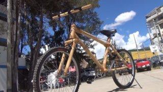 Cajamarca: Fabrican bicicleta con bambú como transporte alternativo