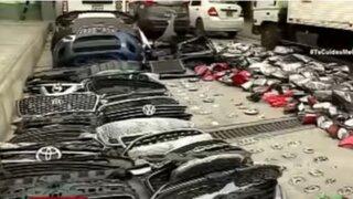San Jacinto: PNP halló gran cantidad de autopartes robadas en dos inmuebles