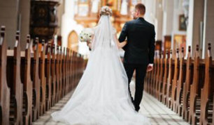Primera boda religiosa en medio de la pandemia de Covid-19 se celebró en Áncash