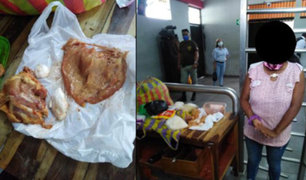 Intentan ingresar droga camuflada en presas de pollo a penal de Tumbes