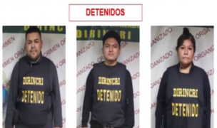 PNP captura a banda de falsos colectiveros que asaltaban con armas de fuego