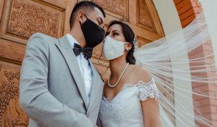 Chimbote: realizan la primera boda religiosa siguiendo estrictos protocolos sanitarios