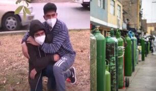 El drama de dos jóvenes que se enteraron de la muerte de su padre cuando hacían cola por oxígeno