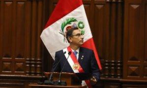 Martín Vizcarra participará en Te Deum en forma remota y dará mensaje desde el hemiciclo del Congreso