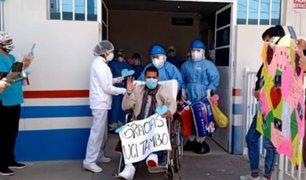 Junín: policía recibe el alta médica tras ganarle la batalla a la COVID-19
