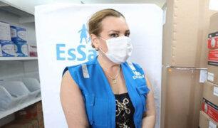 Fiorella Molinelli llevó ayuda a Arequipa para combatir la COVID-19