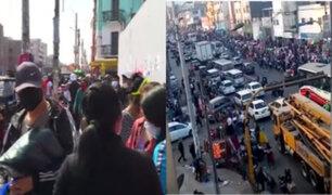 Comercio informal se desborda en Av. Parinacochas: Ambulantes generan riesgo de contagio del Covid-19