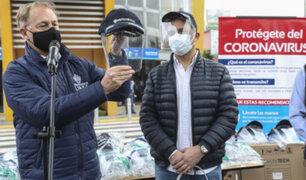 Alcalde Muñoz realizó la entrega de 500 protectores faciales en el Metropolitano