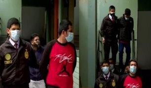 SJM: Policía captura a banda de raqueteros con armas y granada de guerra