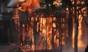 Pucallpa: incendio de grandes proporciones deja a varias familias sin hogar