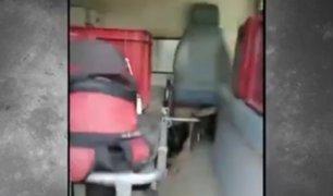 Áncash: hallan ambulancia con tres cajas de cerveza en su interior