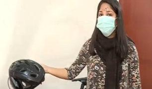 Magdalena: joven ciclista quedó desfigurada tras accidentarse en ciclovía en mal estado