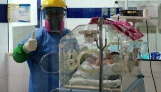 Áncash: 34 bebés prematuros retornaron con sus madres que vencieron el COVID-19