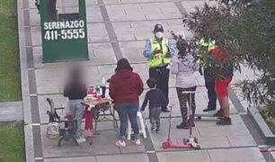 Surco: Familia compartía una pizza en parque pese a la pandemia