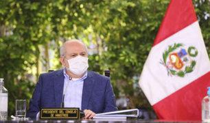 Covid-19: premier Pedro Cateriano lleva ayuda humanitaria a Arequipa