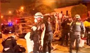 Cercado de Lima: ocho heridos dejó choque entre patrullero y camión