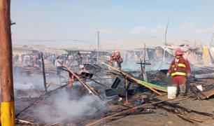 Chimbote: incendio consumió 60 viviendas en asentamiento humano