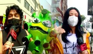 Protectores faciales: así se vive la nueva normalidad en las calles de Lima