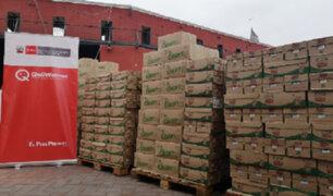Qali Warma entregó 125 toneladas de alimentos a personas vulnerables
