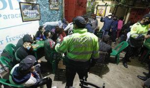 SJM: intervienen a más de 15 personas en un bar durante toque de queda