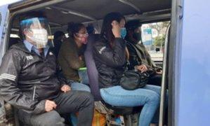 Trujillo: más de 50 conductores son multados por permitir que pasajeros viajen sin protector facial