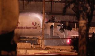 SJM: camión cisterna registró fuga de gas y sembró el pánico cerca de la estación Atocongo