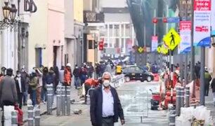 Centro de Lima: amplían carriles peatonales para mantener la distancia social