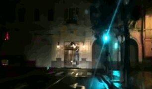 Centro de Lima: Plaza San Martín amaneció a oscuras este 28 de julio