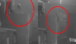 Callao: Ladrón trepa muros y roba en compañía de Bomberos de La Perla