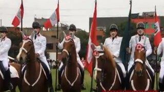 Rímac: Policía Montada rinde homenaje al país por Fiestas Patrias