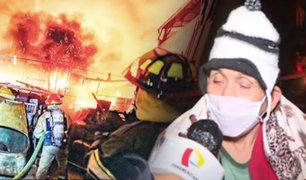 """Cercado de Lima: damnificados de """"El Chaparral"""" lo perdieron todo tras voraz incendio"""