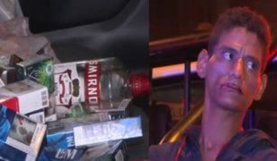 No lo para ni la cuarentena: ladrón rompe puerta de minimarket para robar licores y cigarrillos