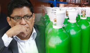 Zeballos declaró ante Fiscalización por donación de oxígeno para Arequipa