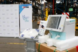 Minsa recibe 25 ventiladores mecánicos donados por la Confiep