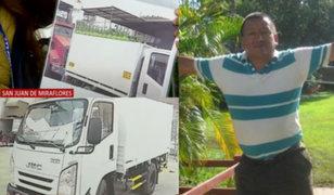 Roban camión de la empresa del Ángel del oxígeno en Villa María del Triunfo