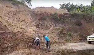 Jaén: intensas precipitaciones causaron daños en carreteras, caminos y vías