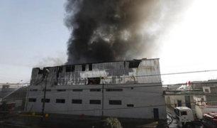 VIDEO: voraz  incendio consume depósito de compañía textil en Ate