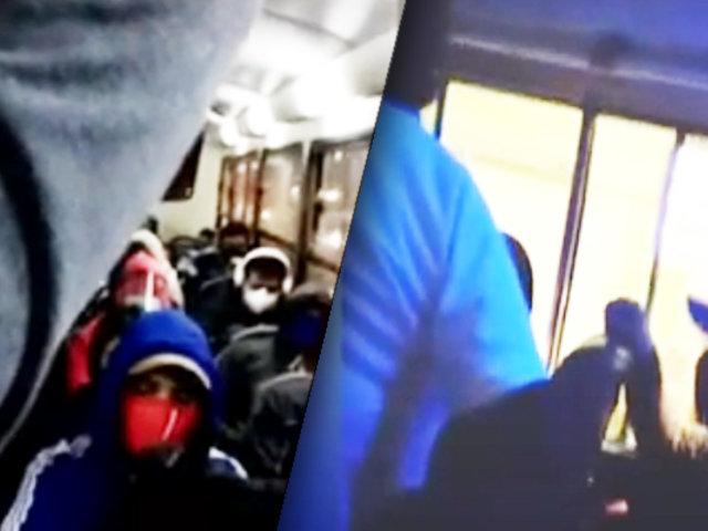 Surco: pasajero graba bus repleto de personas en el puente Primavera