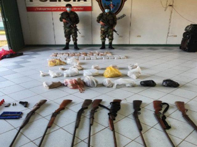 San Martín: decomisan cerca de 100 kilos de drogas en laboratorio clandestino