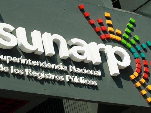 Oficinas de Sunarp atienden a nivel nacional de 10 AM a 7 PM
