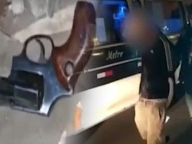 Grupo Terna capturan a dos adolescentes que asaltaron a pasajeros de una combi en Comas