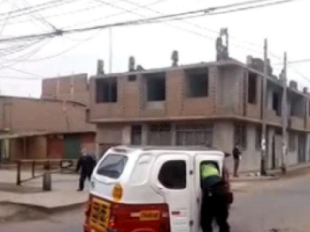 VES: mototaxista arrastró varias cuadras a policía tras ser intervenido