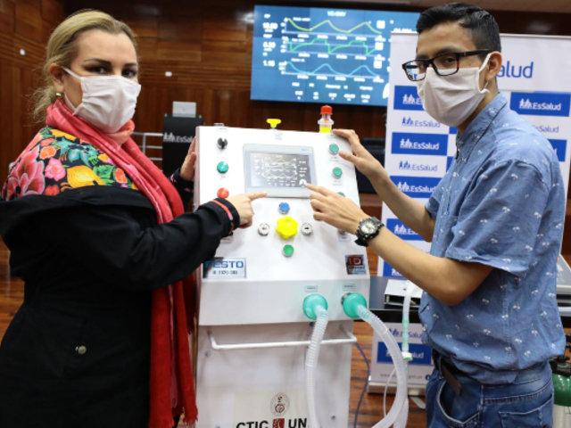 EsSalud y la Uni crean ventilador de Alta Gama para asistir a pacientes Covid-19