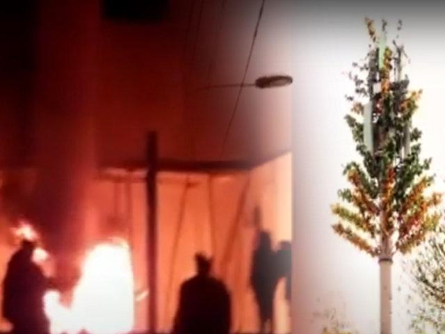 Huancayo: sujetos que quemaron antena de telefonía también saquearon equipos
