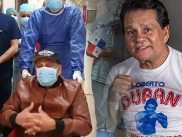 Exboxeador Roberto Durán recibió el alta médica tras superar al COVID-19