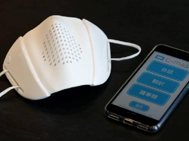 Japón: diseñan mascarilla capaz de conectarse a celulares y traducir idiomas