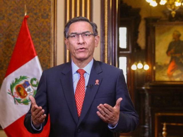 Vizcarra: Convocaremos a referéndum eliminación de la inmunidad parlamentaria